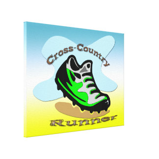 Cross-Country Runner 24x18 Wrapped Canvas