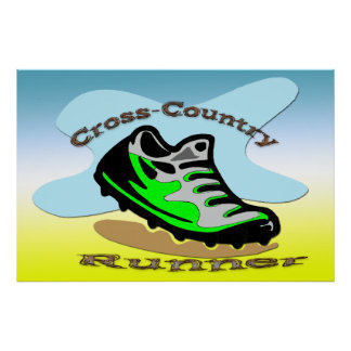 Cross-Country Runner 36x24 Poster