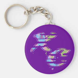 Cross Country Runner Basic Round Button Keychain