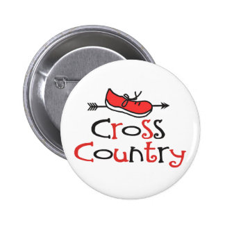 Cross Country Runner 2 Inch Round Button