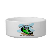 Cross-Country Runner Cat Pet Bowl