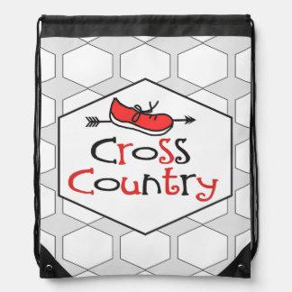 Cross Country Runner - Cute Shoe Symbol Cinch Bag