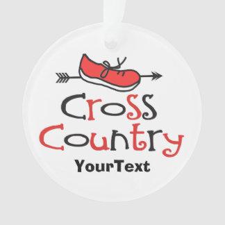 Cross Country Runner Cute Shoe Symbol © Ornament