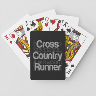 Cross Country Runner Extraordinaire Playing Cards