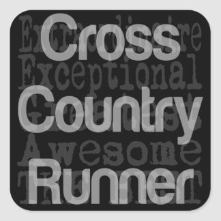 Cross Country Runner Extraordinaire Square Sticker