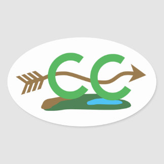Cross Country Runner - Hilly Arrow Oval Sticker