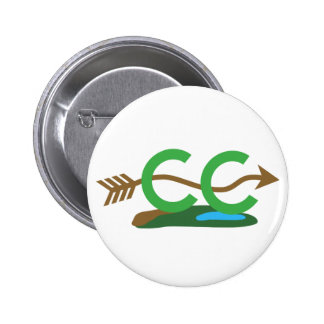 Cross Country Runner - © Hilly Arrow Pinback Button