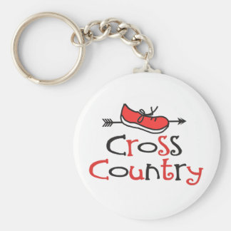 Cross Country Runner Keychain