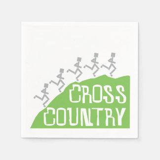 Cross Country Runner on Hill Standard Cocktail Napkin