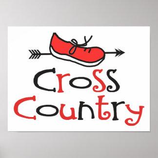 Cross Country Runner Poster