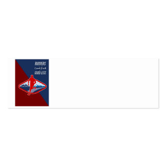 Cross Country Runner Retro Poster Business Cards