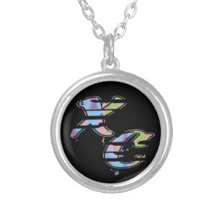 Cross Country Runner Silver Plated Necklace
