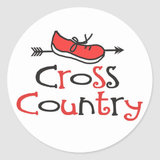 © Cross Country Runner Stickers - Cute Shoe Symbol