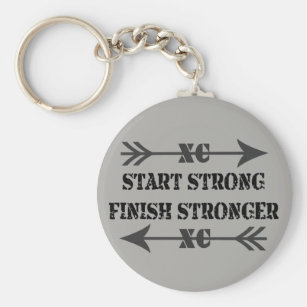 Cross Country Keychain Personalized Keychain Running Keychain Handstamped Gift Gift for Runner Team Gift for Track Star XC Keychain