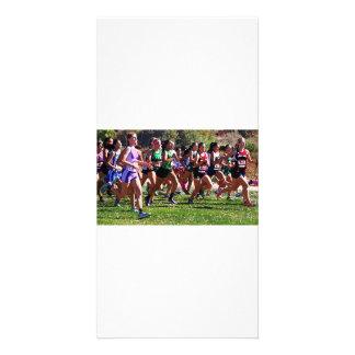 Cross-Country Runners, Folsom, California Photo Greeting Card
