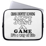 Cross Country Running Ain't Just A Game Laptop Computer Sleeves