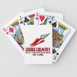Cross Country Running Bicycle Playing Cards