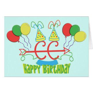 Cross Country Running Birthday Greeting Card