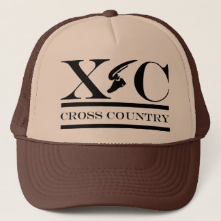 Cross Country Running Black Design Hat