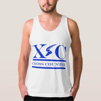 Cross Country Running Blue Shirt
