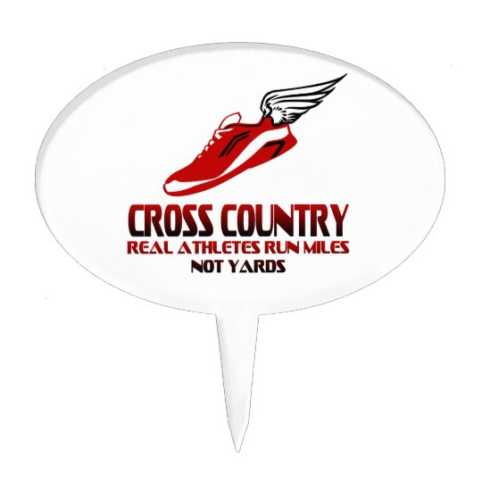 Cross Country Running Cake Topper