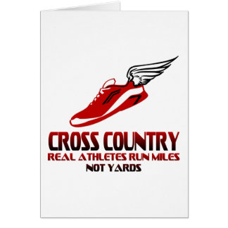 Cross Country Running Card