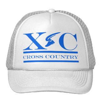 Cross Country Running Carolina Blue Design Hat