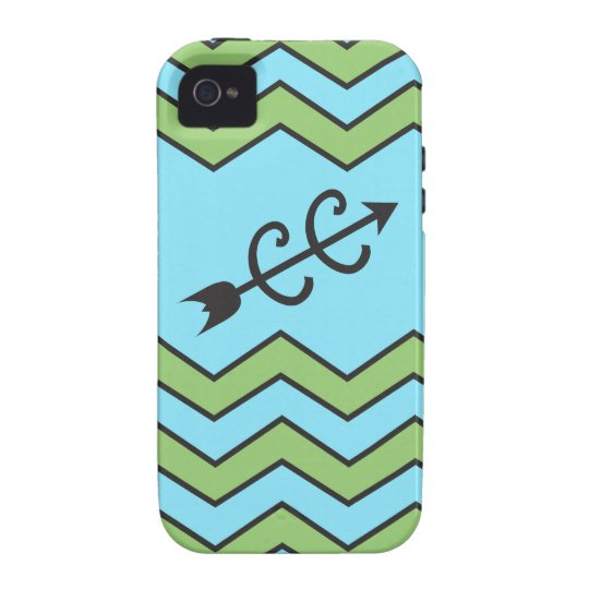 Cross Country Running Chevron Pattern Vibe iPhone 4 Cover