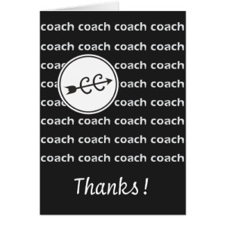 Cross Country Running Coach Card