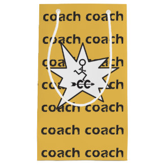 Cross Country Running Coach Small Gift Bag