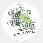 Cross Country Running - Custom Text Classic Round Sticker