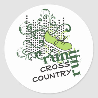 Cross Country Running - Custom Text Classic Round Sticker
