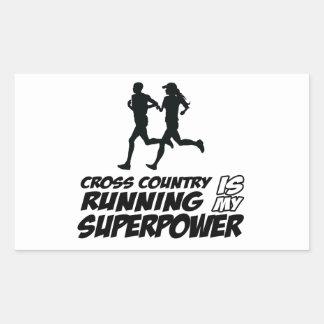 Cross Country running designs Rectangular Sticker