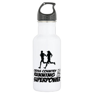 Cross Country running designs Stainless Steel Water Bottle