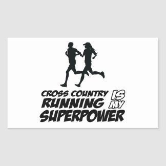 Cross Country running designs Stickers