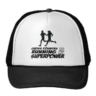Cross Country running designs Trucker Hat