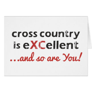 Cross Country Running is © eXCellent Card