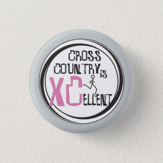 Cross Country Running is XCellent © Pink Pinback Button