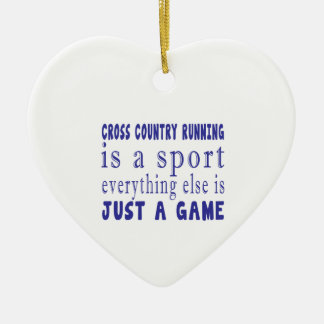 CROSS COUNTRY RUNNING JUST A GAME CERAMIC ORNAMENT