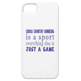 CROSS COUNTRY RUNNING JUST A GAME iPhone SE/5/5s CASE