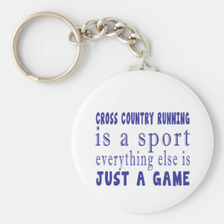 CROSS COUNTRY RUNNING JUST A GAME KEYCHAIN