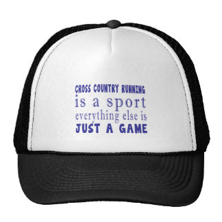 CROSS COUNTRY RUNNING JUST A GAME TRUCKER HAT