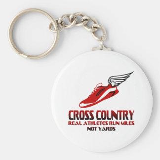 Cross Country Running Keychain