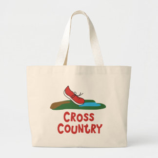 Cross Country Running © Large Tote Bag