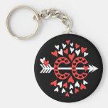 Cross Country Running Love Basic Round Button Keychain
