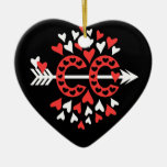 Cross Country Running Love Christmas Tree Ornaments