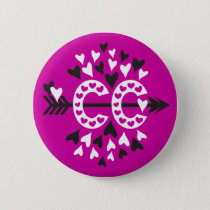 Cross Country Running Love Pinback Button