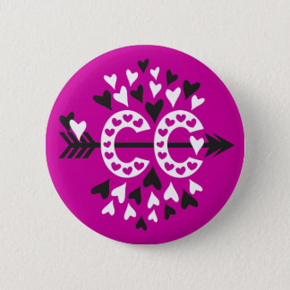 Cross Country Running Love Pinback Button