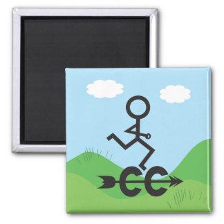 Cross Country Running Magnet
