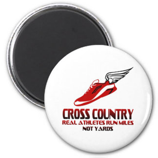 Cross Country Running 2 Inch Round Magnet